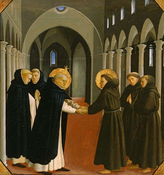 Meeting of Saint Francis and Saint Dominic. Fra Angelico