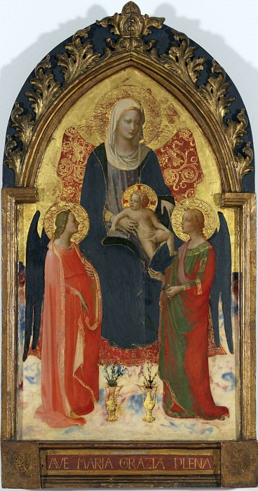 Madonna and Child with Two Angels. Fra Angelico