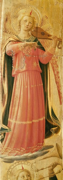 Linaioli Tabernacle - Angel making music. Fra Angelico