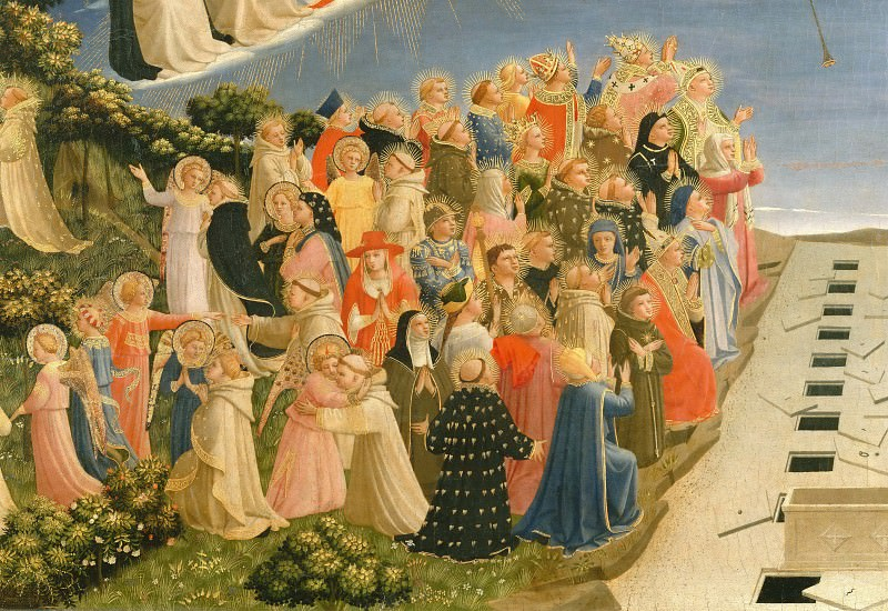 The Last Judgement, detail - The righteous. Fra Angelico