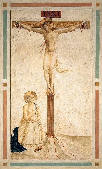 20 Распятие со святым Домиником. Фра Анджелико