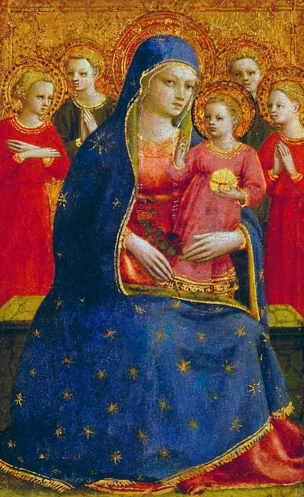 Мадонна с Младенцем и ангелами. Фра Анджелико