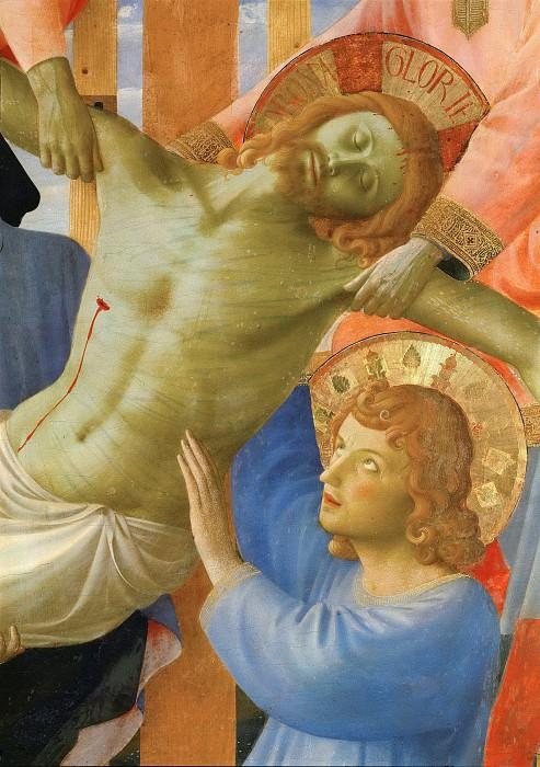 Алтарь церкви Святой Троицы - Снятие с креста, фрагмент. Фра Анджелико