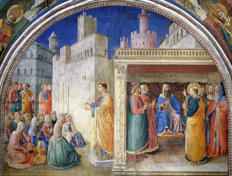 The Sermon of St. Stephen and Dispute before Sanhedrin. Fra Angelico