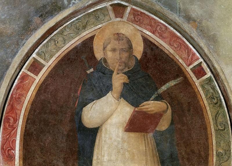 Святой Петр Мученик, предписывающий молчание. Фра Анджелико