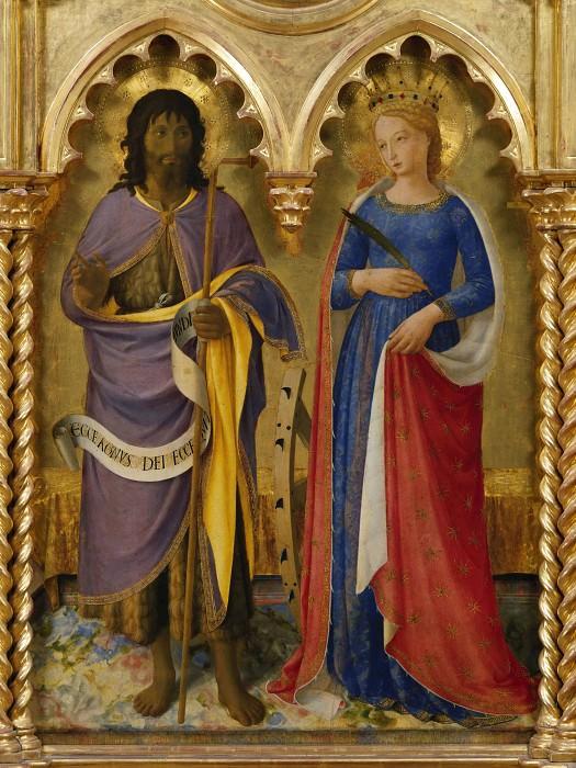 Алтарь из Перуджи - Святые Иоанн Креститель и Екатерина Александрийская. Фра Анджелико