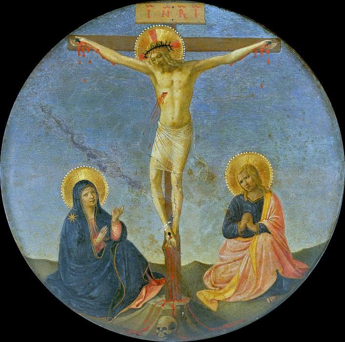 Tondo with Crucifixion. Fra Angelico