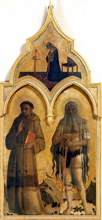 Алтарь Общества Святого Франциска - Святые Франциск Ассизский и Онуфрий. Фра Анджелико