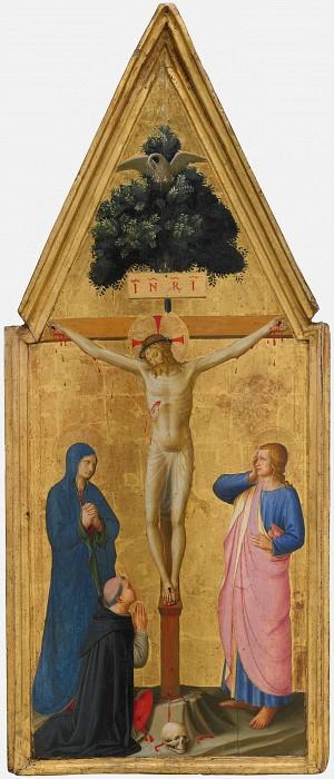 Распятие с Богородицей и Иоанном Евангелистом и кардинал Торквемада. Фра Анджелико