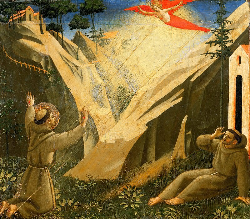 Compagnia di San Francesco Altarpiece, predella - Saint Francis Receives the Stigmata. Fra Angelico