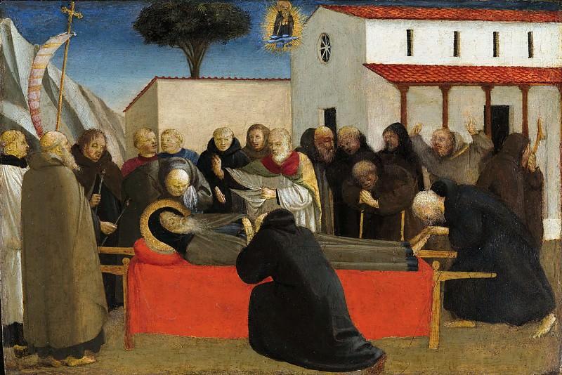Funeral de San Antonio. Fra Angelico
