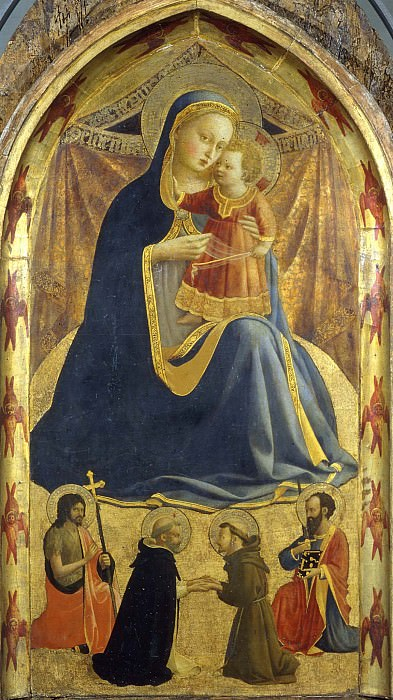 Madonna of humility. Fra Angelico