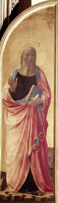Табернакль Линайоли, створка - Иоанн Богослов. Фра Анджелико