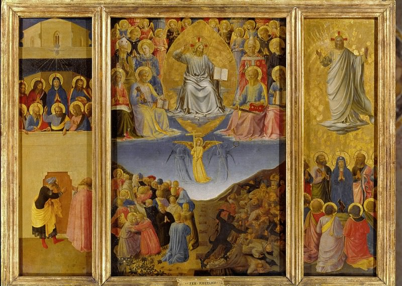 Triptych Last Judgment. Fra Angelico
