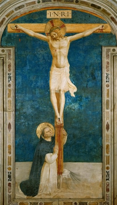 Saint Dominic Adoring the Crucifixion. Fra Angelico