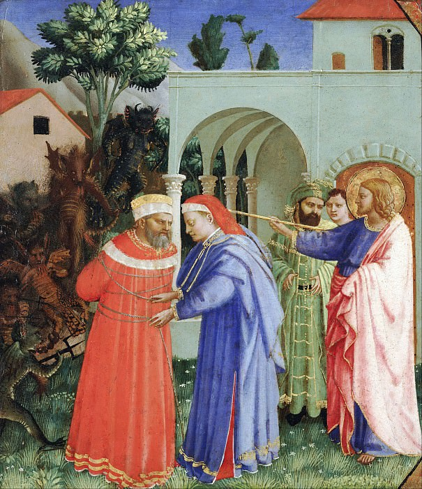 Apostle Saint James the Greater Freeing the Magician Hermogenes. Fra Angelico