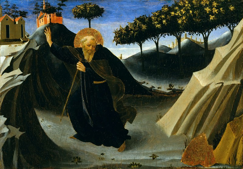 Saint Anthony Abbot Shunning the Mass of Gold. Fra Angelico