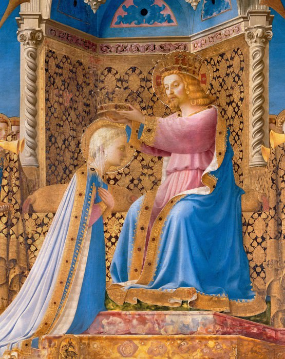Coronation of the Virgin, detail. Fra Angelico