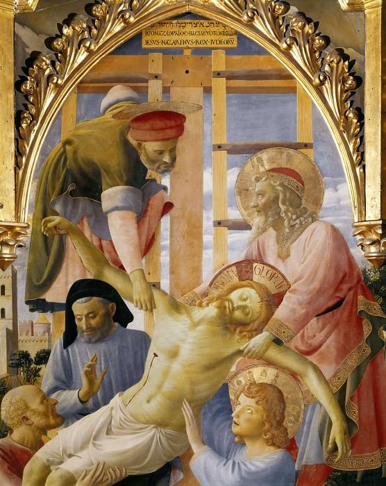 Santa Trinita Altarpiece - Deposition from the Cross, detail. Fra Angelico