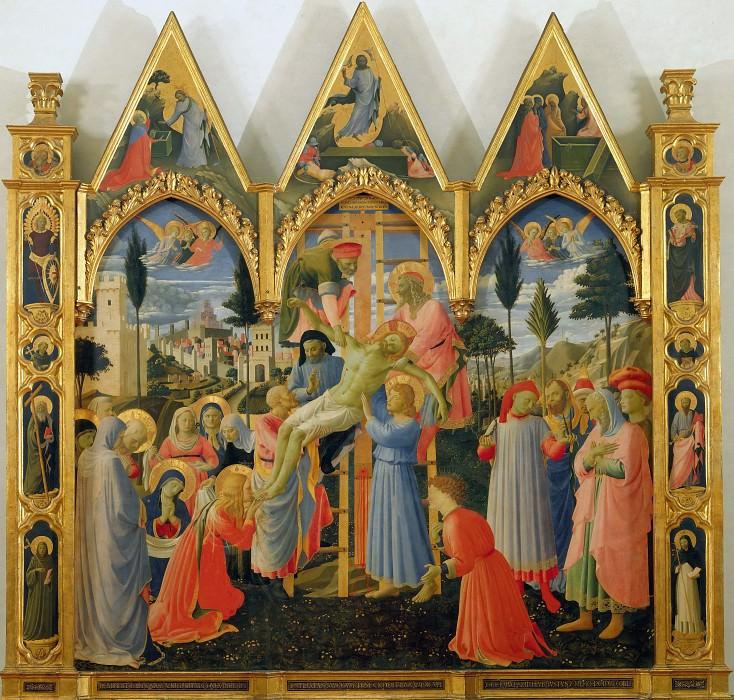 Алтарь церкви Святой Троицы - Снятие с креста. Фра Анджелико