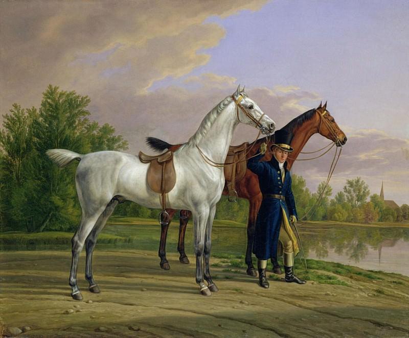 Портрет человека с двумя лошадьми. Альбрехт Адам