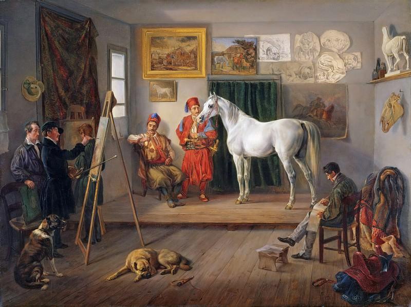 Мастерская художника в Мюнхене. Альбрехт Адам