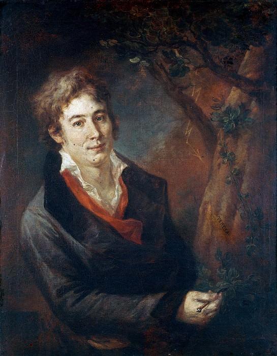 Portrait of Ugo Foscolo, italian poet and literary. Andrea Appiani