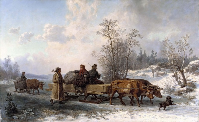 Peasants from Sorunda on their Way to Stockholm. Nils Andersson