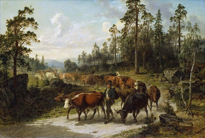 Driving Cattle in Småland. Nils Andersson