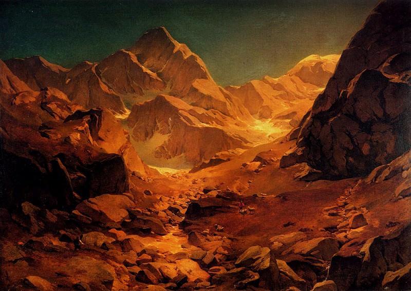 A Mountainous Landscape. Oswald Achenbach
