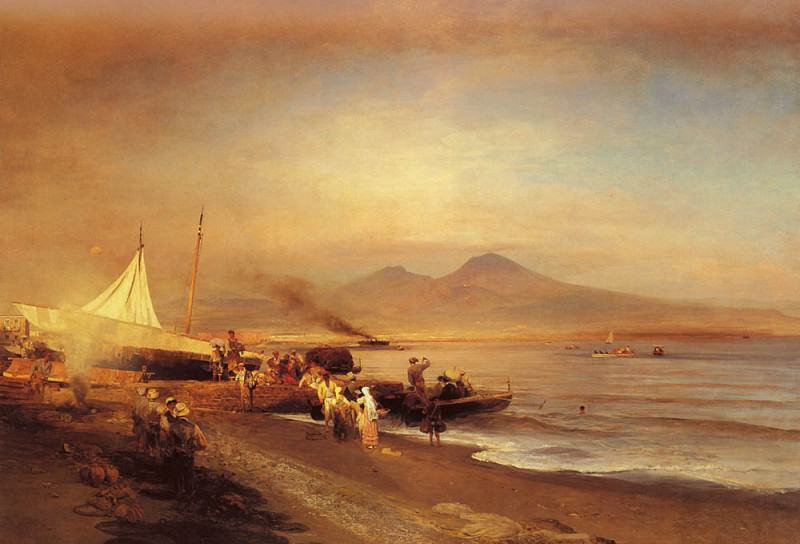 The Bay Of Naples. Oswald Achenbach