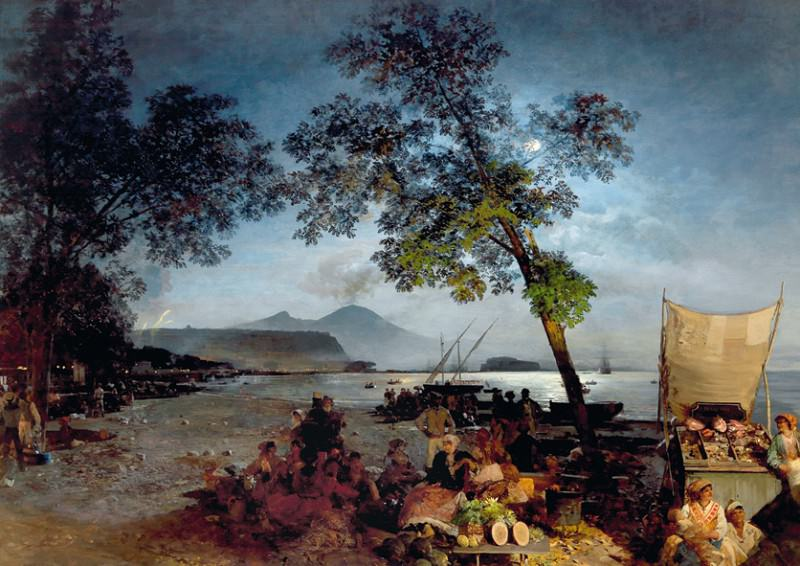 Summer Evening in the Bay of Naples. Oswald Achenbach