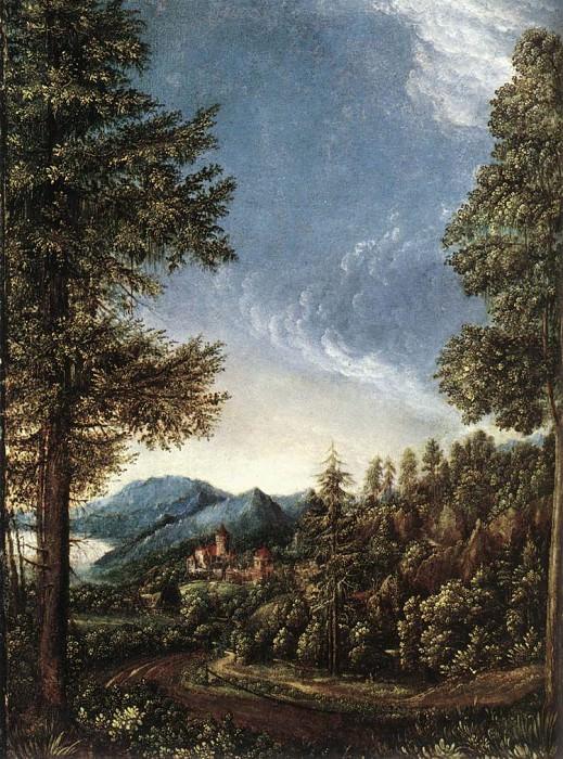 Придунайский пейзаж 1520. Альбрехт Альтдорфер