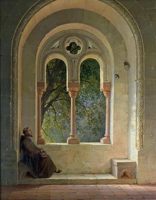 Коридор монастыря. Макс Эмануэль Айнмиллер