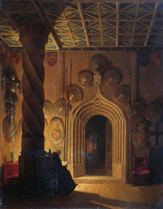 Зал в крепости Хоэнзальцбург. Макс Эмануэль Айнмиллер