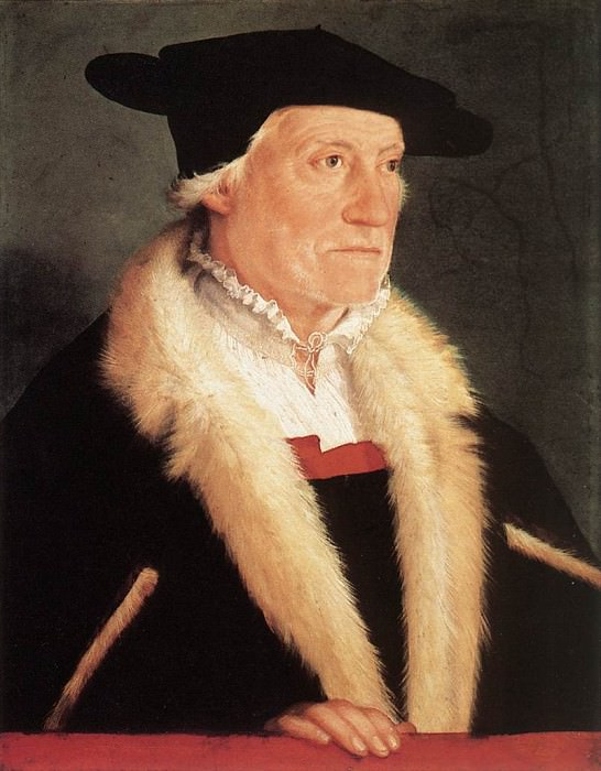 Portrait of the Cosmographer Sebastien Munster WGA. Christoph Amberger