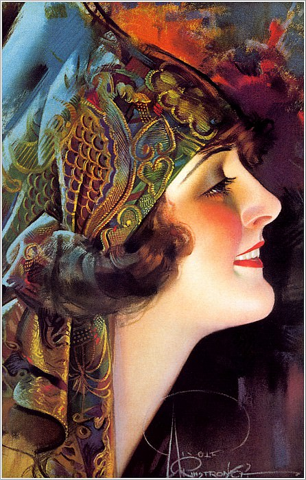 Cos 039 Rolf Armstrong Portrait of Martha Mansfield. Rolf Armstrong