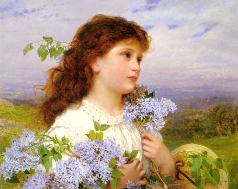 The Time Of The Lilacs. Sophie Gengembre Anderson