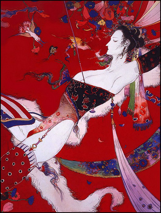 lrsAmanoYoshitaka-Flowers&SnakesFlowering. Ёситака Амано