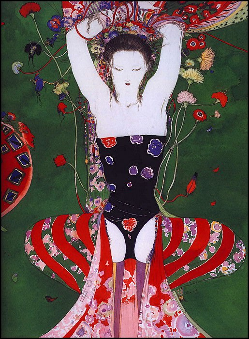 lrsAmanoYoshitaka-Flowers&SnakesFullMaturity. Yoshitaka Amano