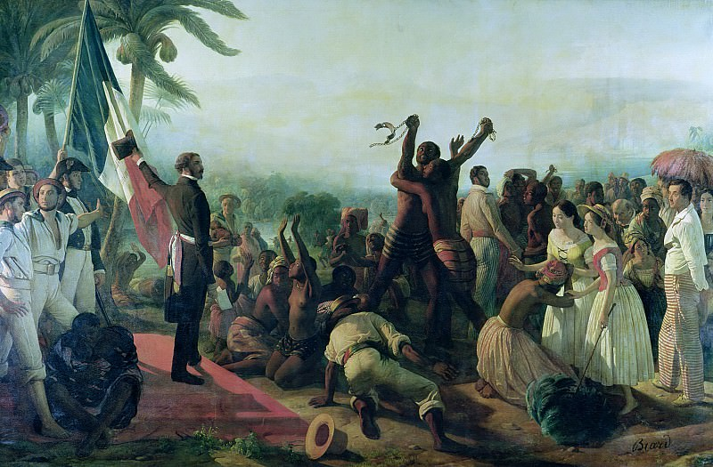 Proclamation of the Abolition of Slavery in the French Colonies 23rd April 1848, 1849. Francois Auguste Biard