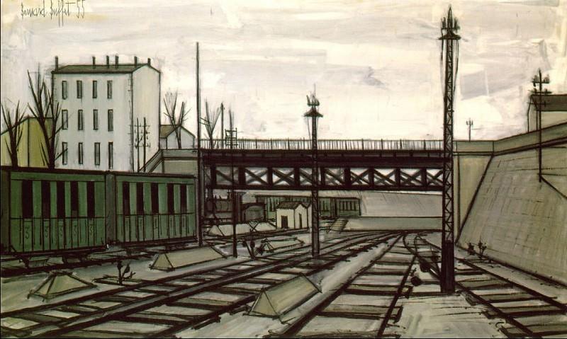 The Railroad Track. Bernard Buffet