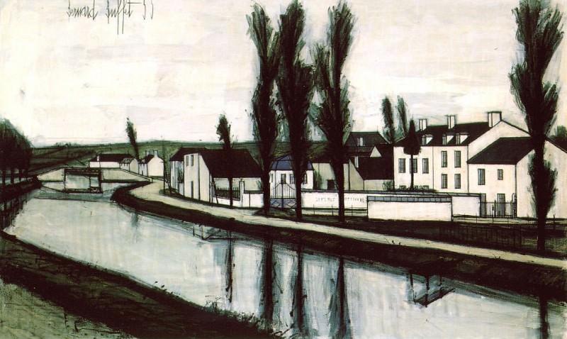 Canal en Bretagne. Bernard Buffet