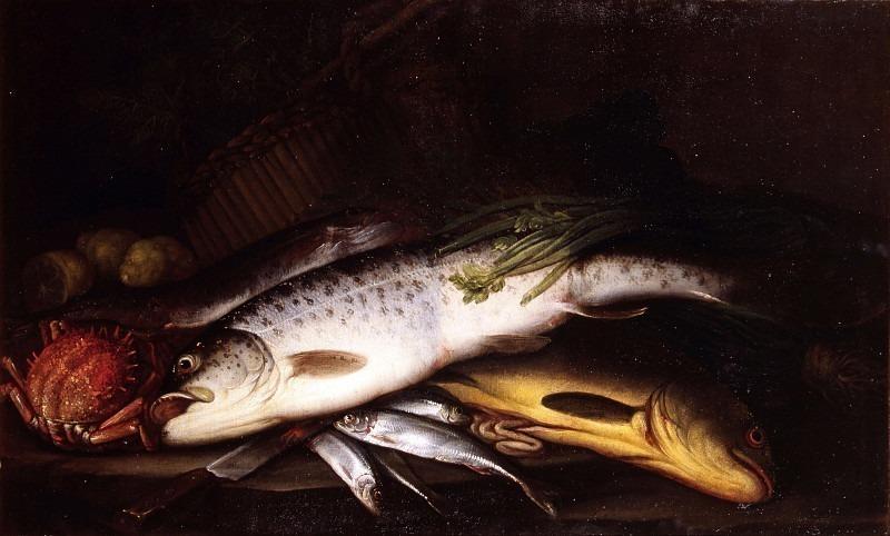 Натюрморт с рыбой. Эваристо Баскенис