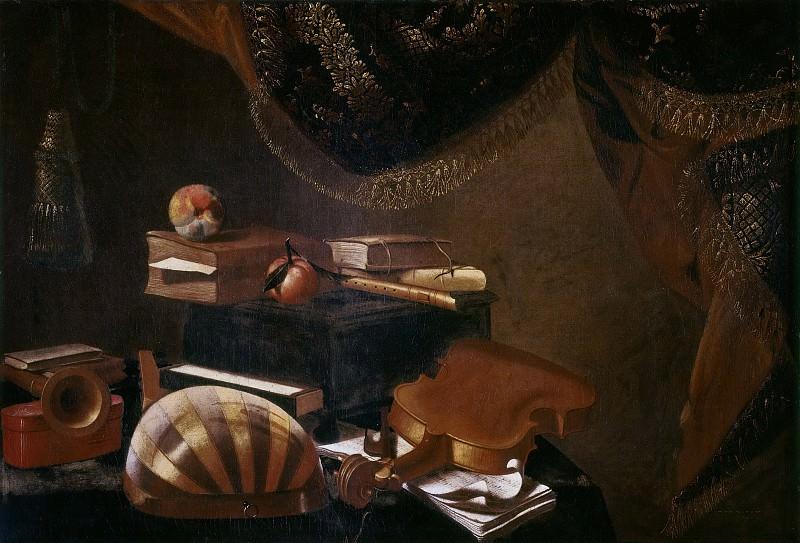 Still Life with Musical Instruments. Evaristo Baschenis