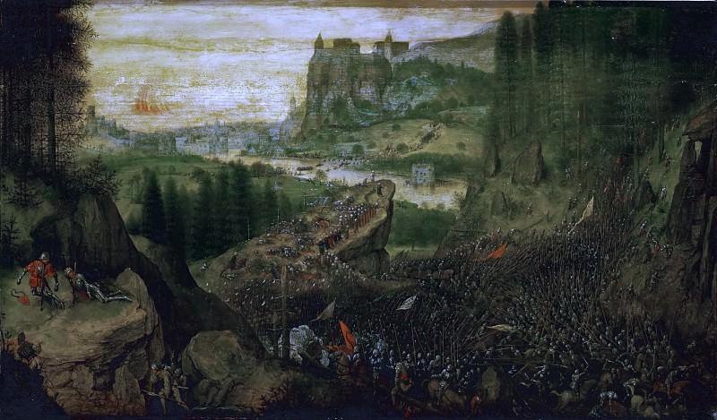 Suicide of Saul. Pieter Brueghel The Elder