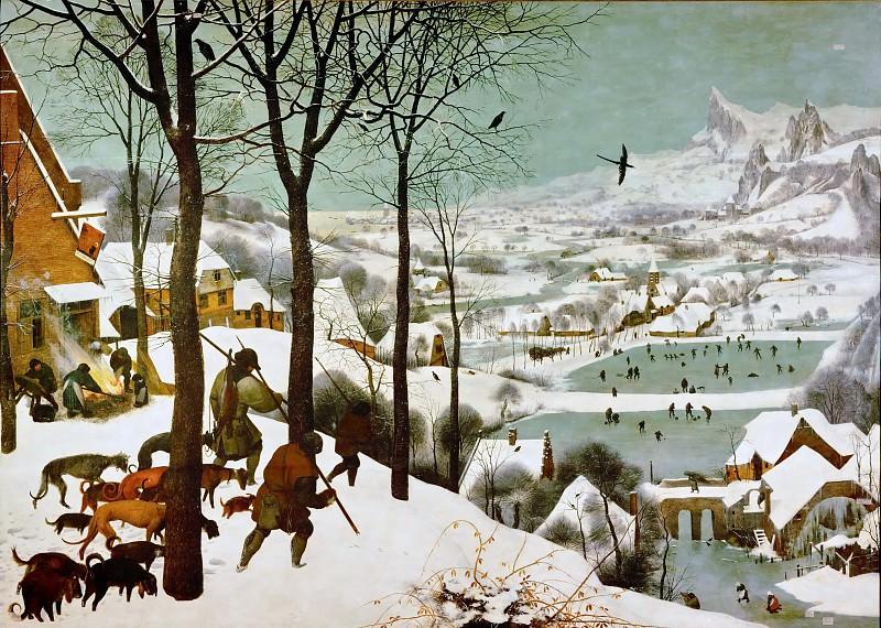 Les chasseurs dans la neige. Pieter Brueghel The Elder