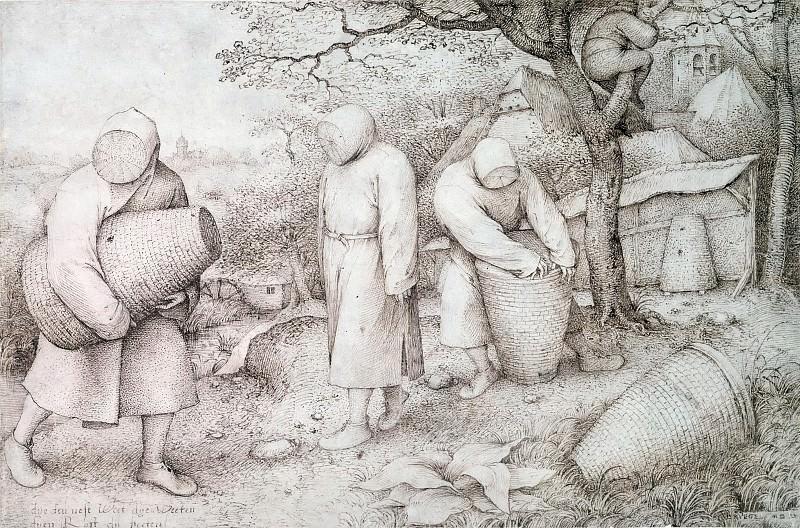 The Beekeepers. Pieter Brueghel The Elder