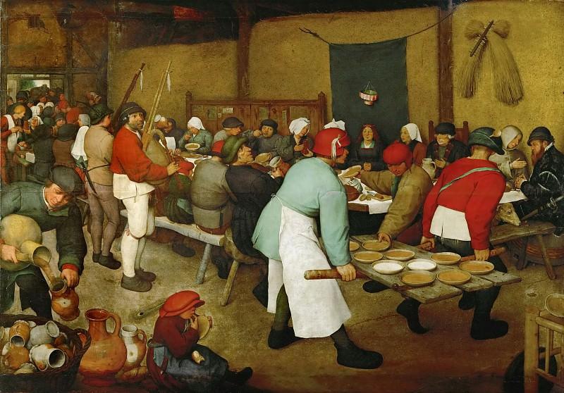Peasant Wedding. Pieter Brueghel The Elder