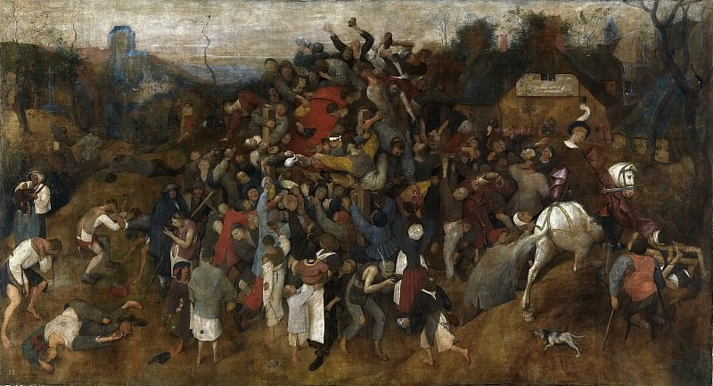 The Wine of Saint Martin's Day. Pieter Brueghel The Elder